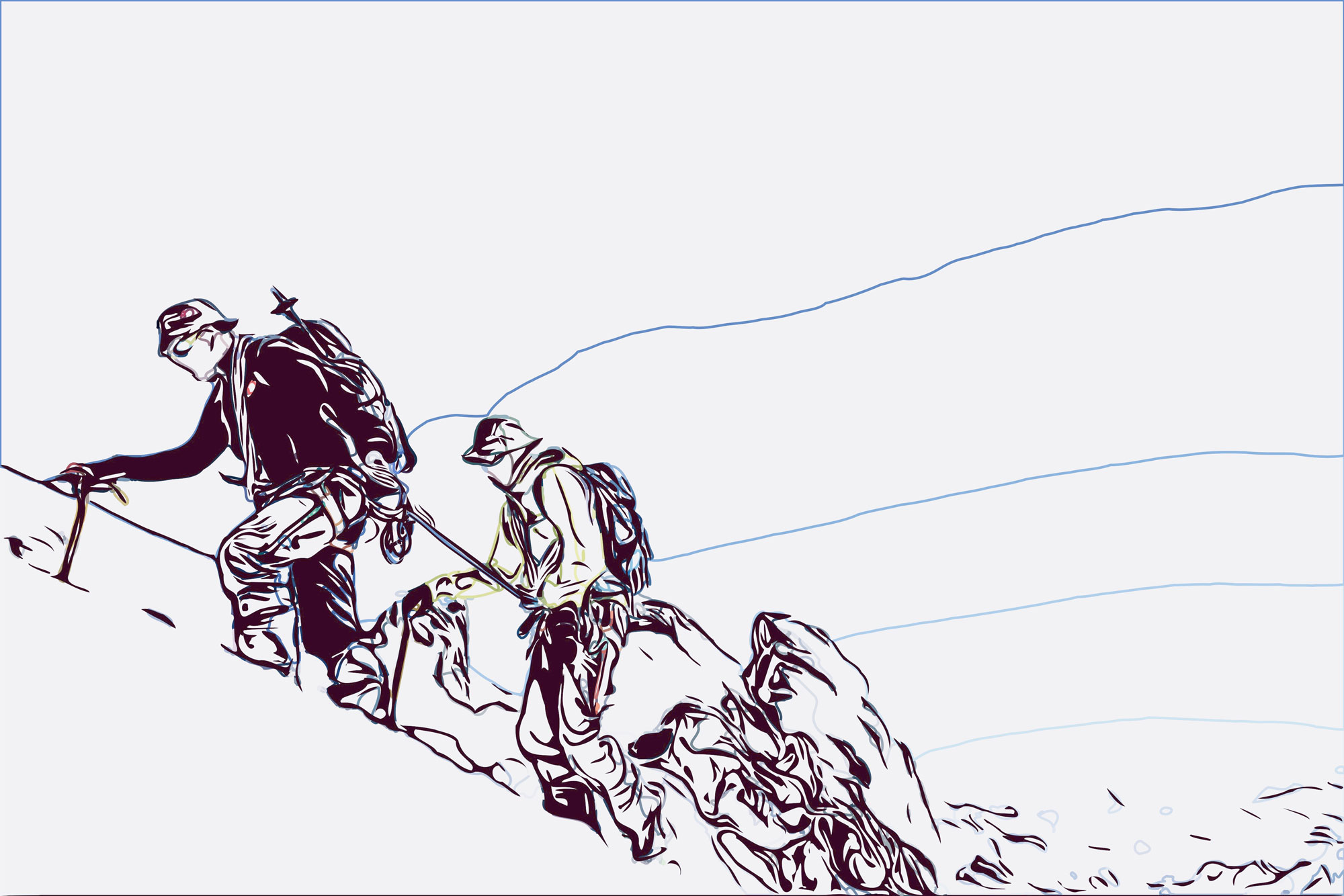 Kurz und schmerzlos, Gehen am kurzen Seil, © Argonaut.pro I bergundsteigen.blog