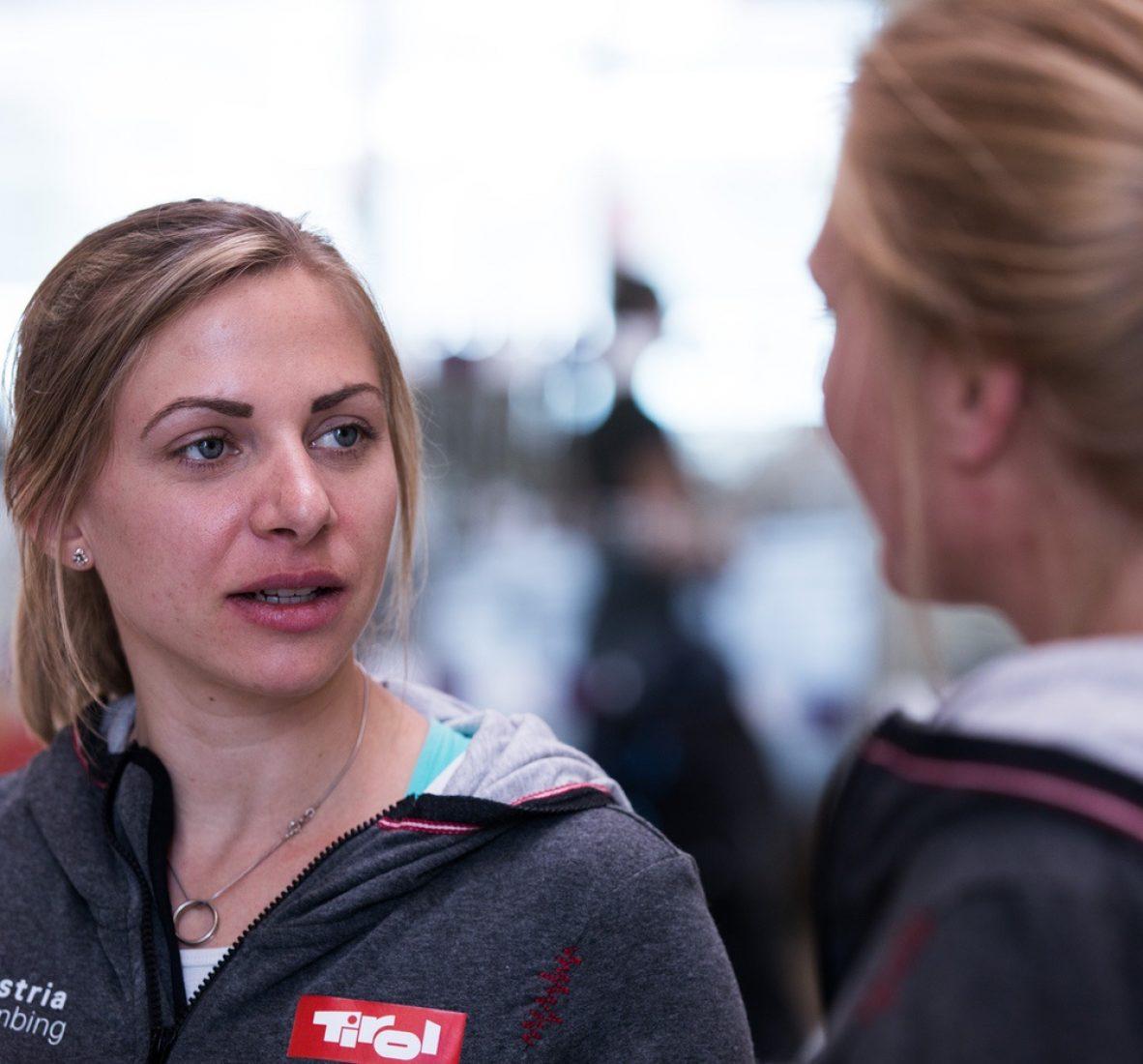Katharina Saurwein ist Sportkletterin, engagiert sich seit 2015 im KVÖ (Kletterverband Österreich) für den Aufbau des Paraclimbing und ist Trainerin des österreichischen Nationalteams.