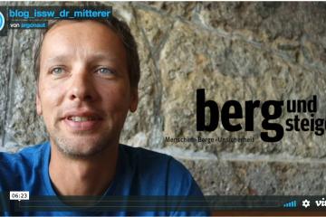 ISSW Dr. Christoph Mitterer I bergundsteigen im brennpunkt