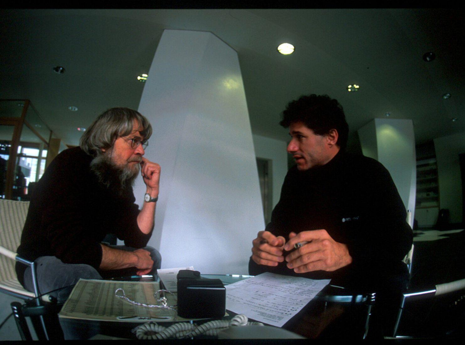 Michael Larcher im Gespräch mit Werner Munter für bergundsteigen Ausgabe 4/2005.