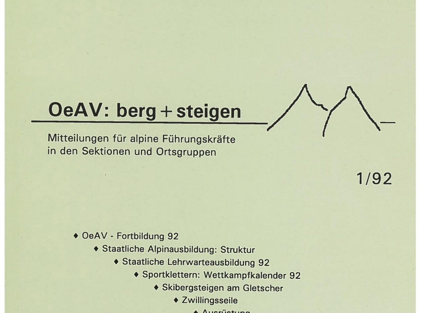 Die erste bergundsteigen-Ausgabe erschien im Frühling 1992.