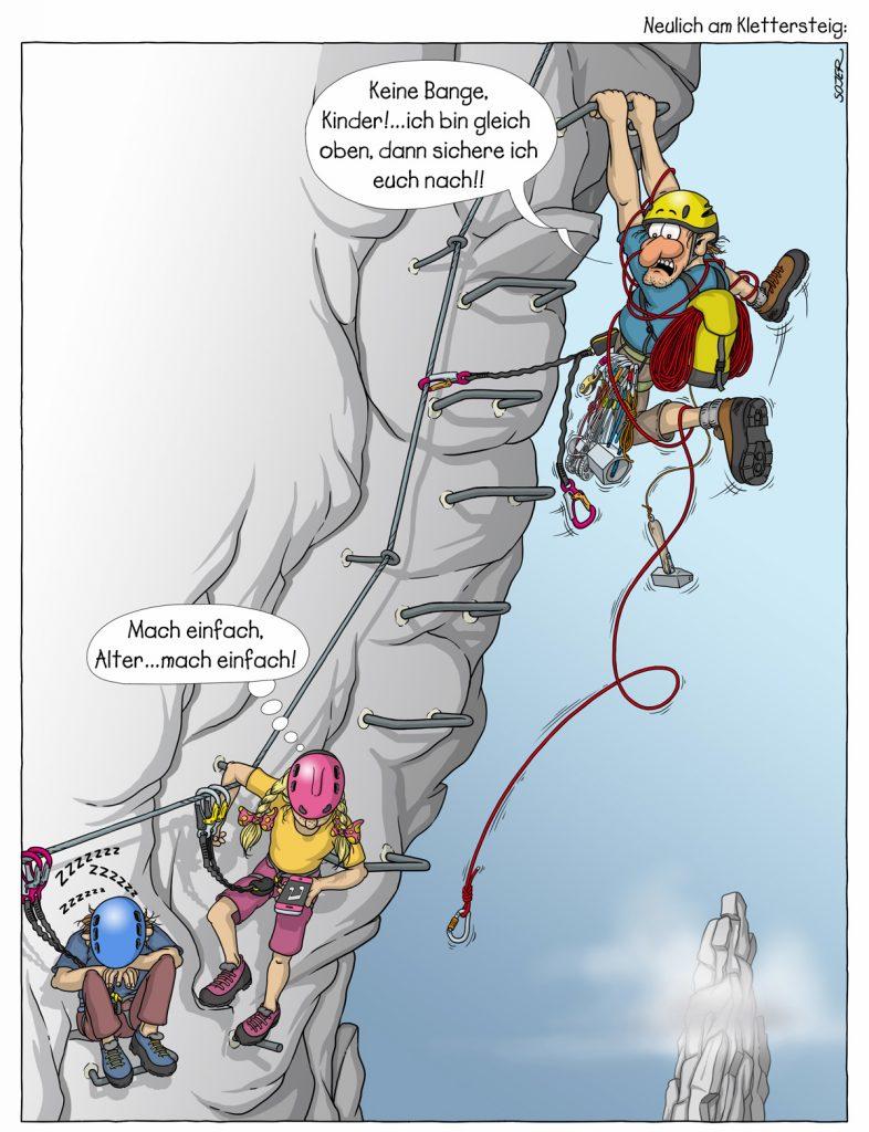 Neulich am Klettersteig, @Georg Sojen I bergundsteigen.blog