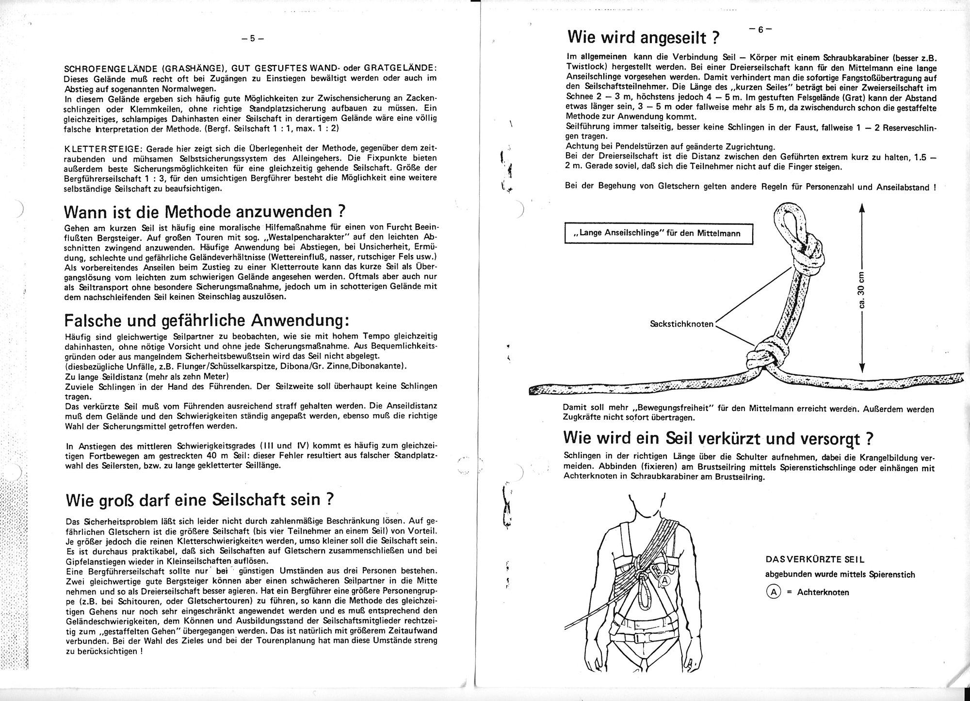 """Skriptum """"Gehen am kurzen Seil als sicherungs- und führungstechnische Maßnahme"""" von Klaus Hoi I bergundsteigen.blog"""