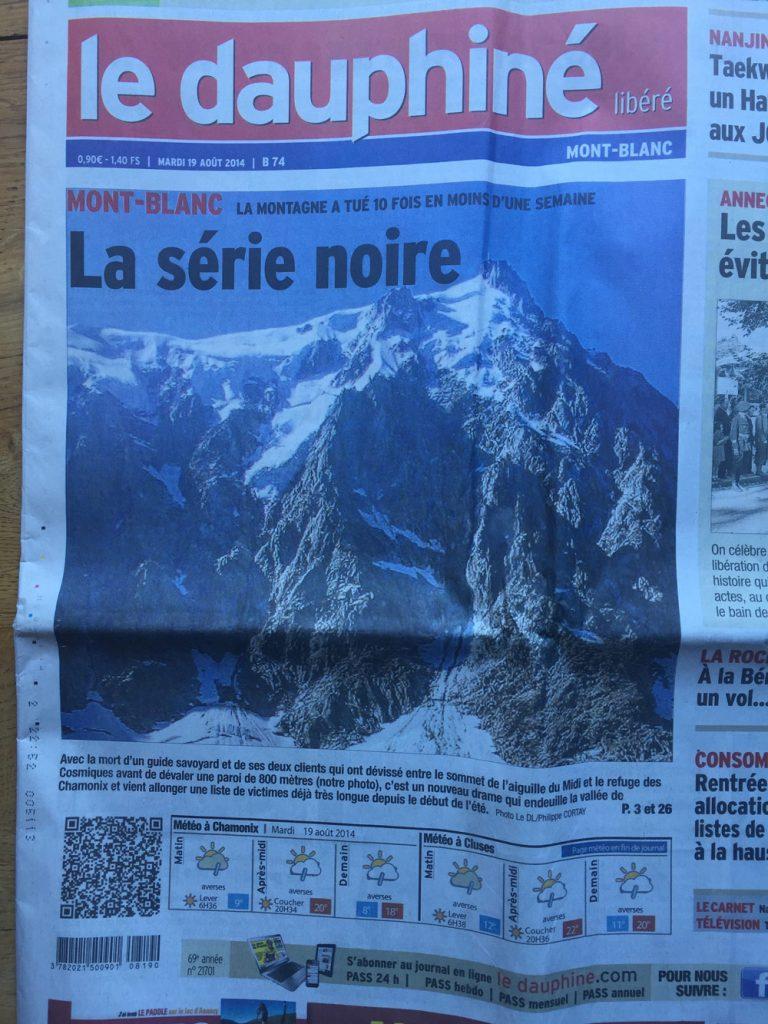 MONT-BLANC Der Berg hat 10 mal in weniger als einer Woche getötet Die schwarze Serie I bergundsteigen.blog