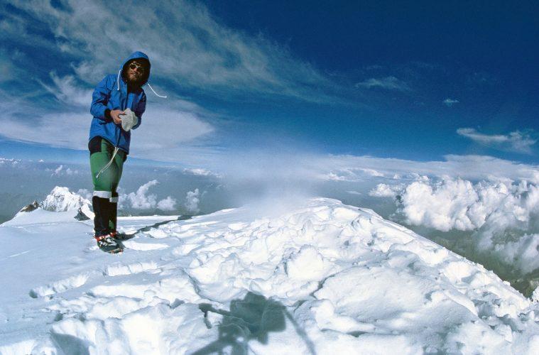 Reinhold Messner am Nanga Parbat Gipfel 1978, solo I bergundsteigen.blog
