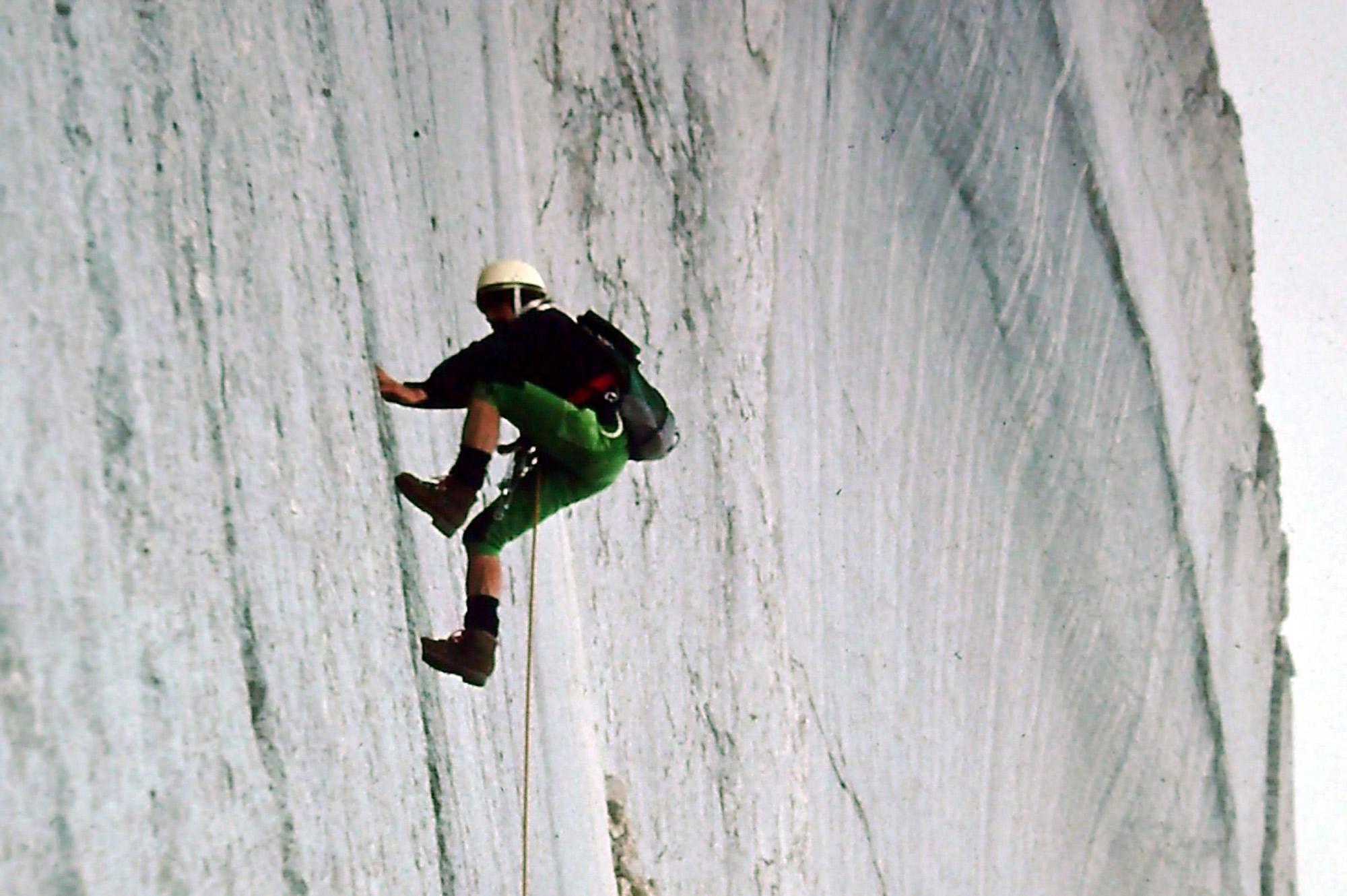 Neunerplatte Südwand, Fanesgruppe, © Archiv Messner I bergundsteigen.blog