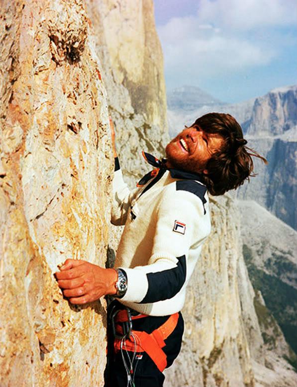 Messner, der Dolomitenkletterer. Foto: Archiv Messner I bergundsteigen.blog