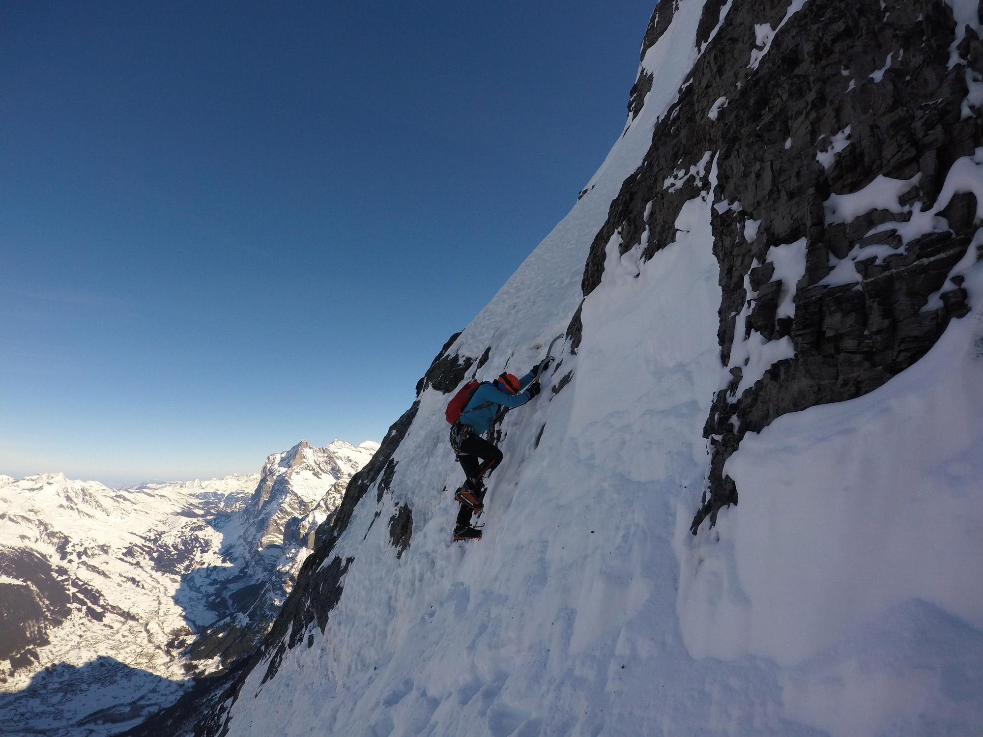 Philipp Brugger, Eiger Nordwand Nordpfeiler I bergundsteigen.blog