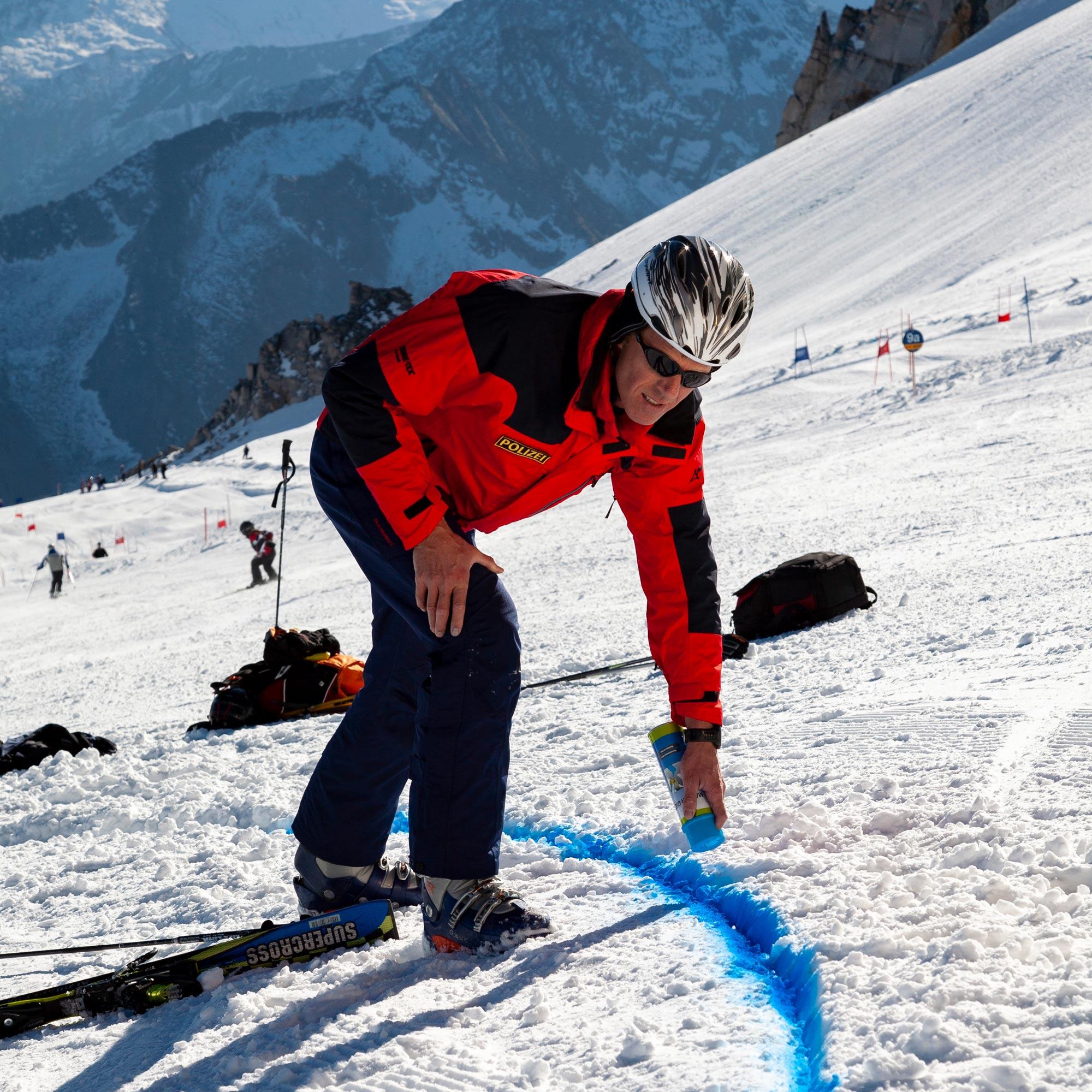 Dokumentation eines Skiunfalls Hintertux. © Bruno Guttmann I bergundsteigen.blog
