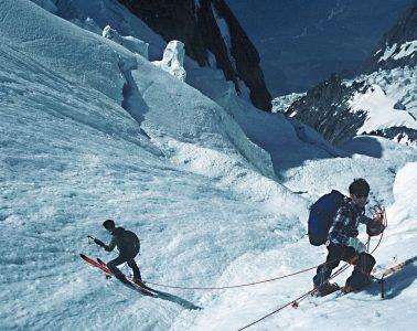 Anselme Baud und Patrick Vallençant unterwegs im Mont Blanc Massive.