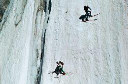 Anselme Baud und Patrick Vallençant bei der Abfahrt. Foto: Archiv Scholz