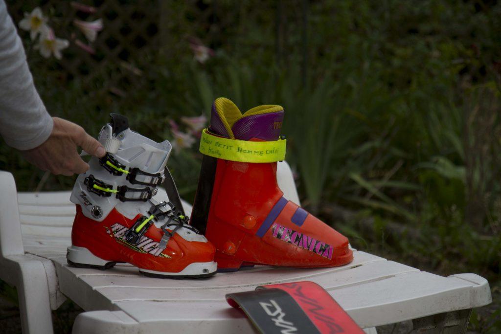 Mit dem Schuh rechts fuhr Tardivel 1992 vom Everest-Südsattel ab