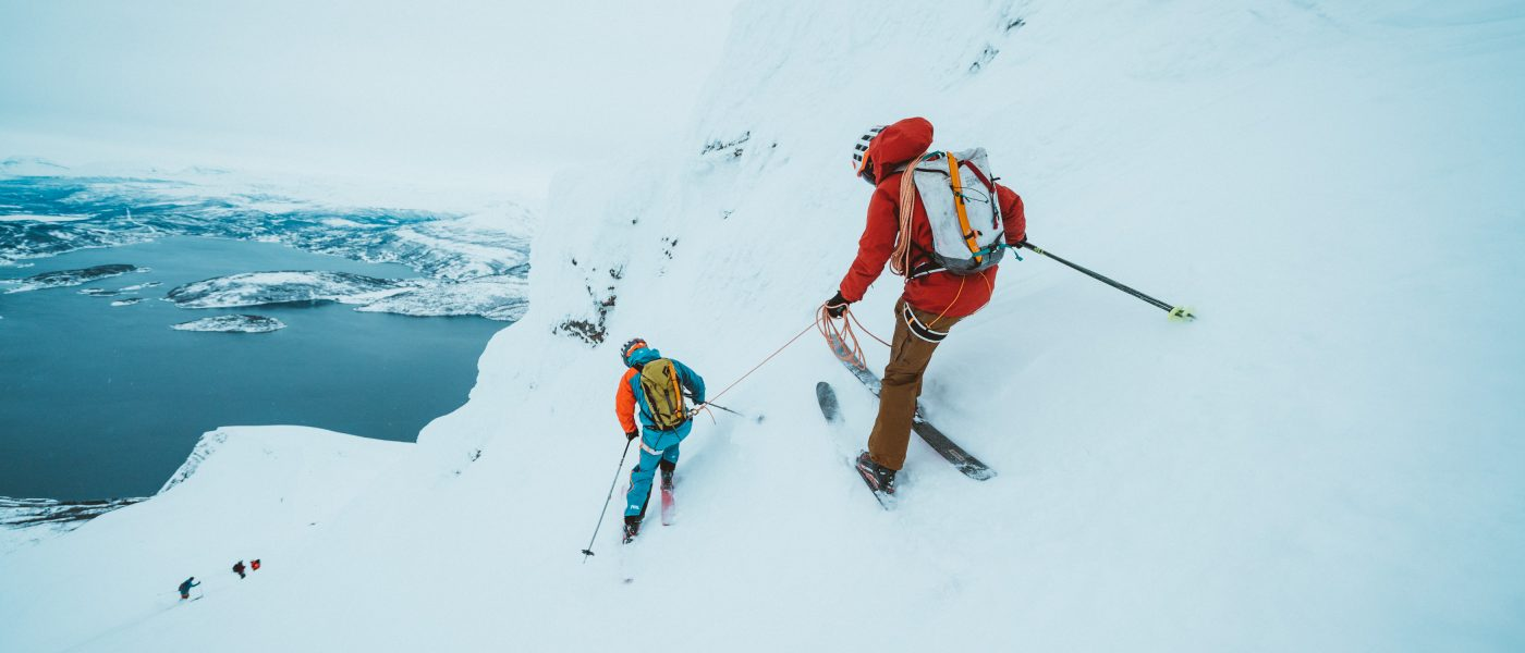 Kurzes-Ski-Seil… Vivian unterwegs in Norwegen. Foto: Mathis Dumas