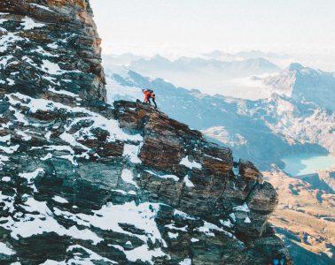 Fernanda Maciel am Liongrat/Matterhorn. Foto: Red Bull