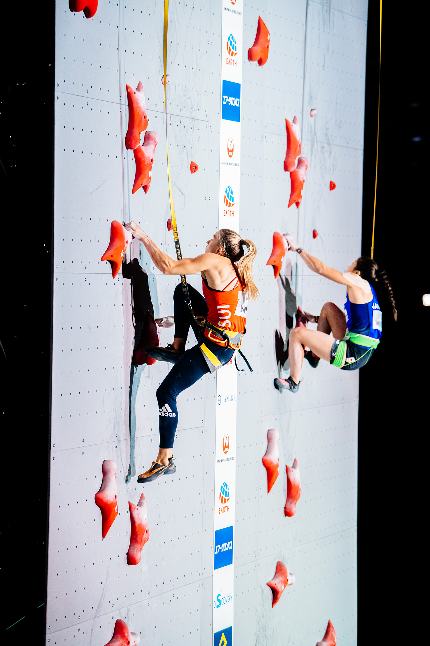 Petra Klingler (SUI) und Miho Nonaka (JPN) auf der Norm-Speedroute in Toky