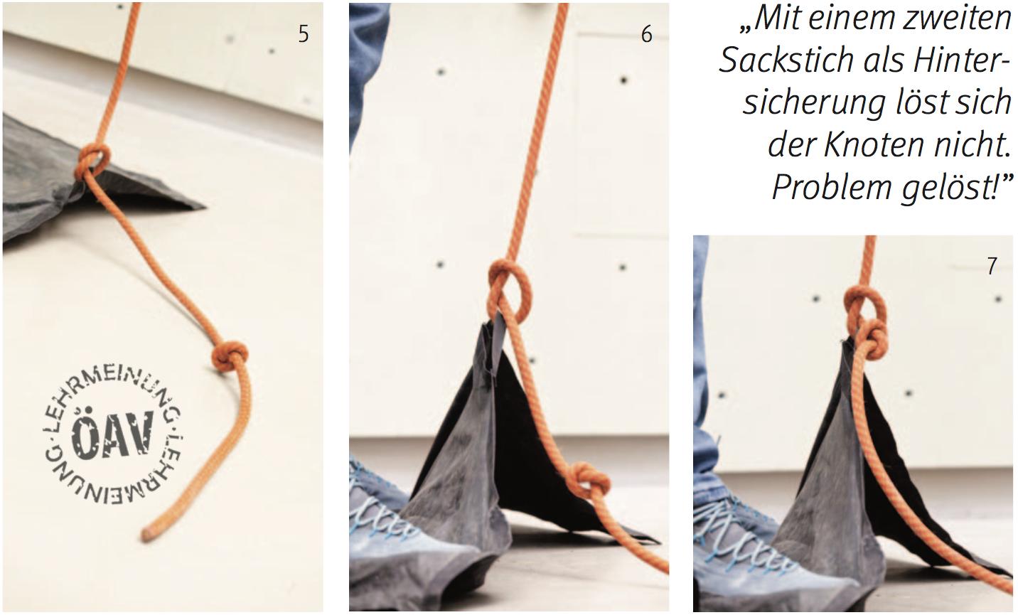 Vorsicht Seilsackschlaufe! OEAV
