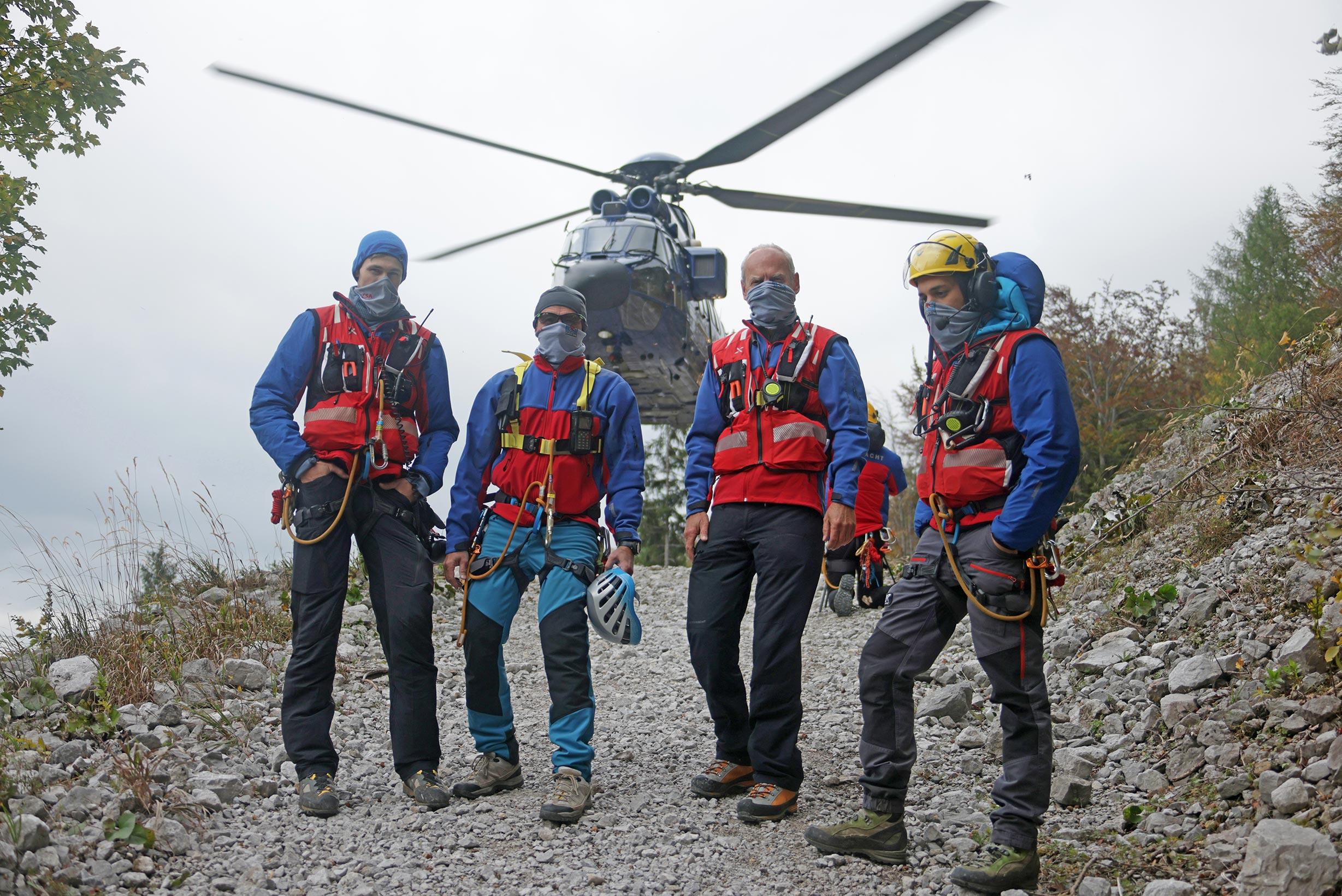 Die Bergwacht im Einsatz während der Pandemie.