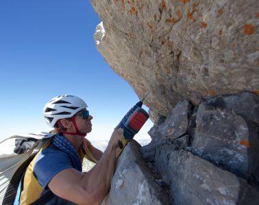 Klasse statt Masse: Bergführer Marvin Kärle legt Wert auf Sorgfalt beim Erschließen. Foto: Marvin Kärle