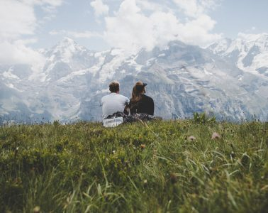Ausblick in Lauterbrunnen. Beim Pausieren sollte nichts passieren. Foto: Peter Conlan
